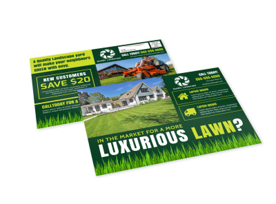 Green Lawn EDDM Postcard Template preview