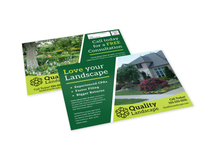 Landscaping Consultation EDDM Postcard Template preview