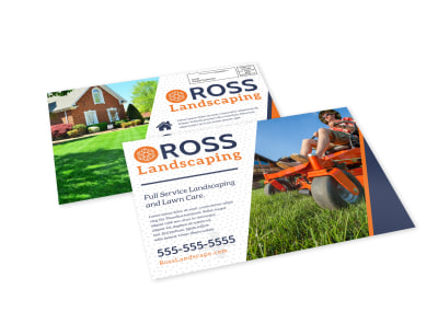 Full Service Landscaping EDDM Postcard Template preview