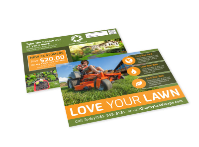 Love Your Yard EDDM Postcard Template preview