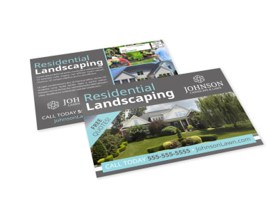 Residential Landscaping EDDM Postcard Template preview