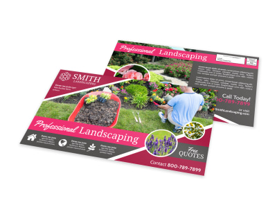Cool Landscaping EDDM Postcard Template preview