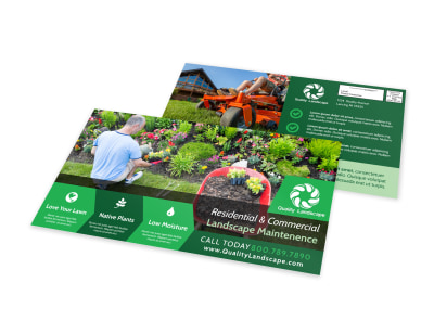 Landscape Maintenance EDDM Postcard Template preview