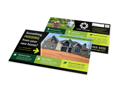 Yard Work EDDM Postcard Template preview