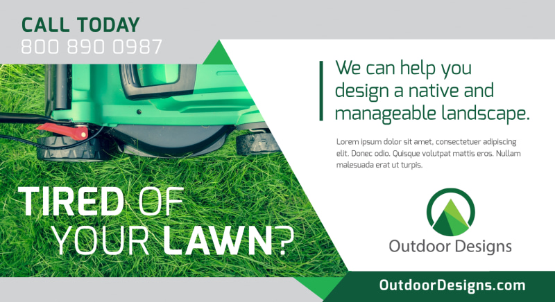 Tired Of Your Lawn EDDM Postcard Template Preview 2