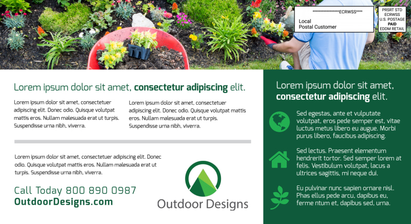 Tired Of Your Lawn EDDM Postcard Template Preview 3