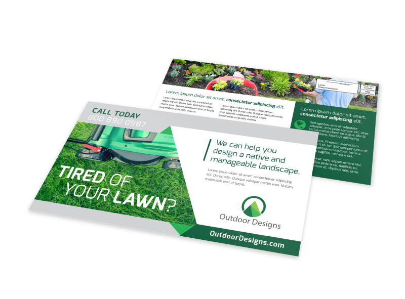 Tired Of Your Lawn EDDM Postcard Template Preview 1