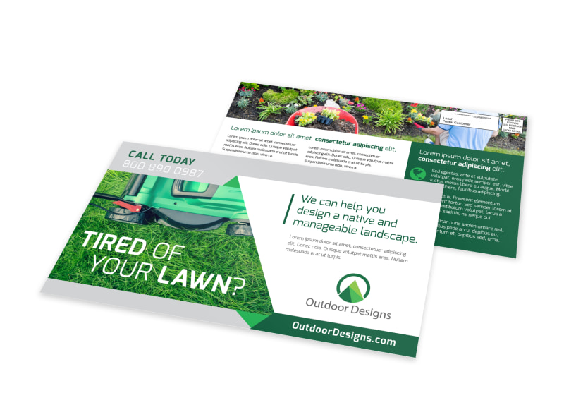 Tired Of Your Lawn EDDM Postcard Template Preview 4
