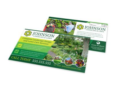 Landscape & Lawn EDDM Postcard Template preview
