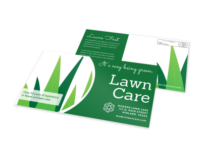 Green Lawn Care EDDM Postcard Template preview