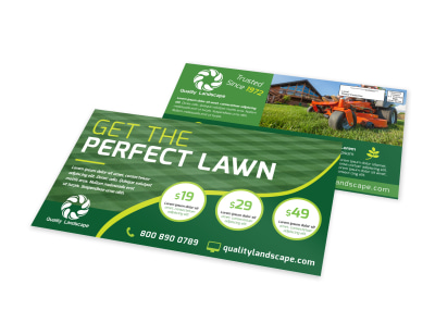 Perfect Lawn EDDM Postcard Template preview