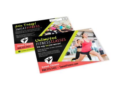 Unlimited Fitness EDDM Postcard Template preview