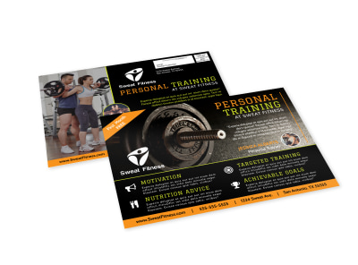 Personal Fitness Training EDDM Postcard Template preview
