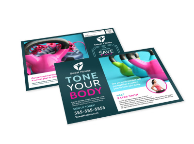 Tone Fitness EDDM Postcard Template preview