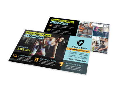 Personalized Fitness EDDM Postcard Template preview