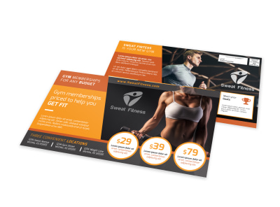 Gym Membership EDDM Postcard Template preview