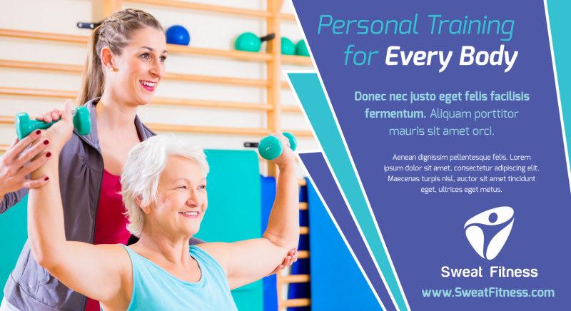 Fitness Training EDDM Postcard Template Preview 2