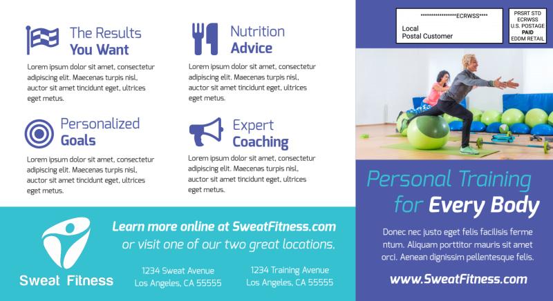 Fitness Training EDDM Postcard Template Preview 3