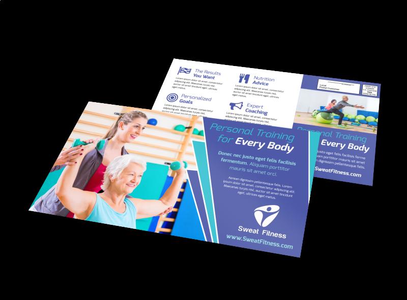 Fitness Training EDDM Postcard Template Preview 1