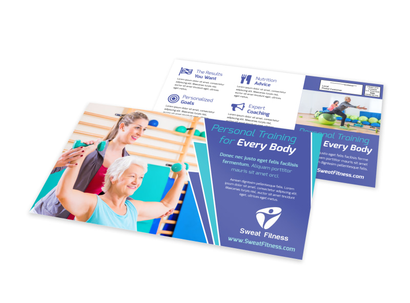 Fitness Training EDDM Postcard Template Preview 4