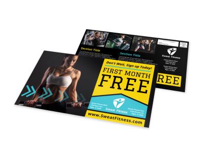 Fitness Promo EDDM Postcard Template preview