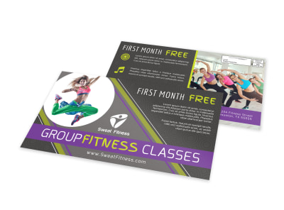 Group Fitness EDDM Postcard Template preview