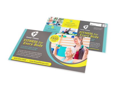 Fitness For All EDDM Postcard Template preview
