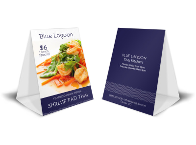 Lunch Special Table Tent Template preview