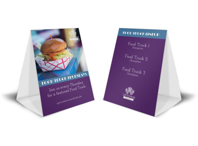 Food Truck Table Tent Template preview