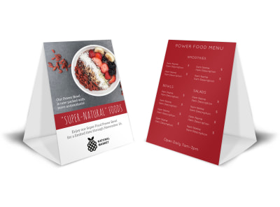 Super Foods Table Tent Template preview
