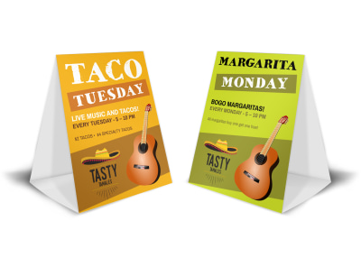 Taco Tuesday Table Tent Template preview