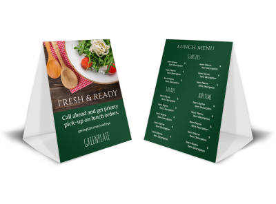 Fresh & Ready Table Tent Template preview