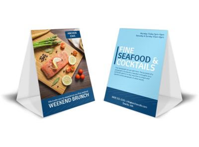 Seafood Brunch Table Tent Template preview