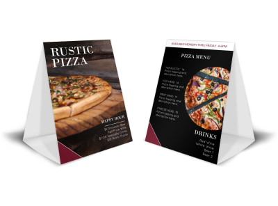 Rustic Pizza Table Tent Template preview