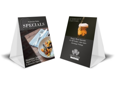 Restaurant Special Table Tent Template preview