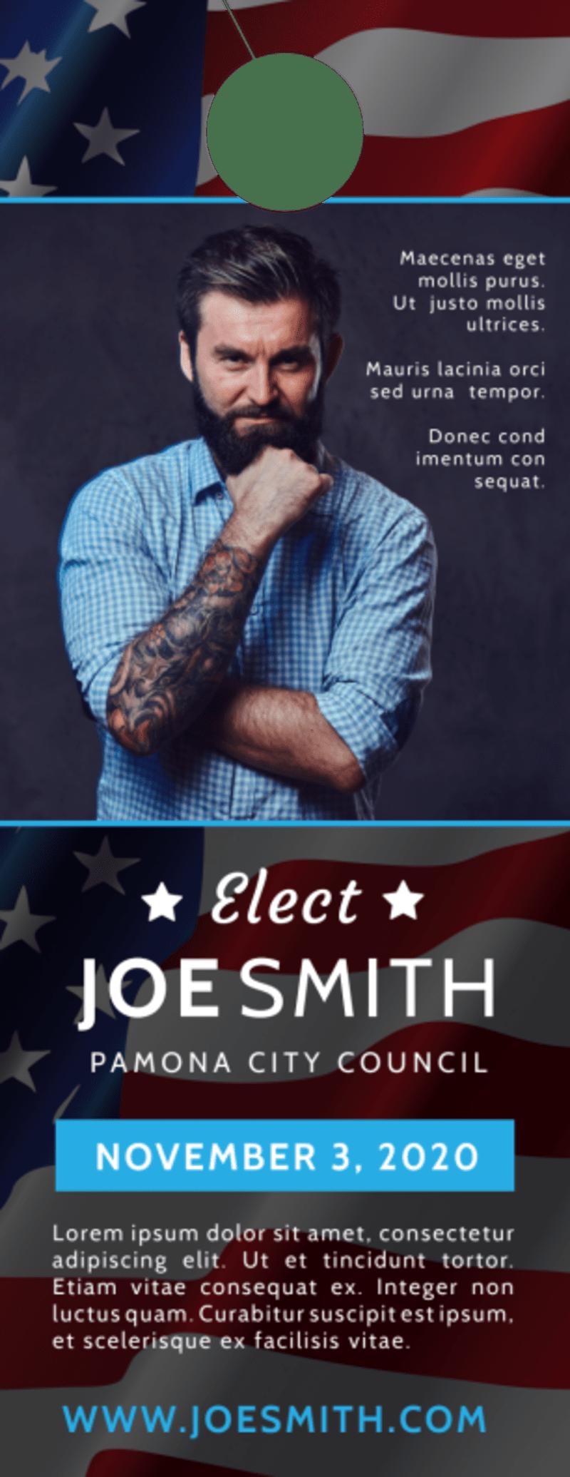 Elect Campaign Door Hanger Template Preview 2