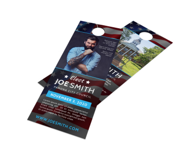 Elect Campaign Door Hanger Template preview