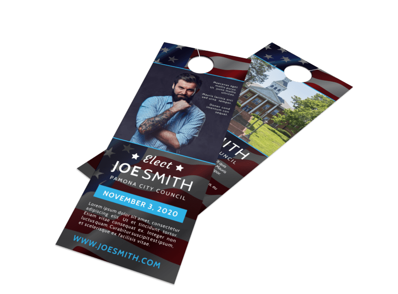 Elect Campaign Door Hanger Template Preview 1