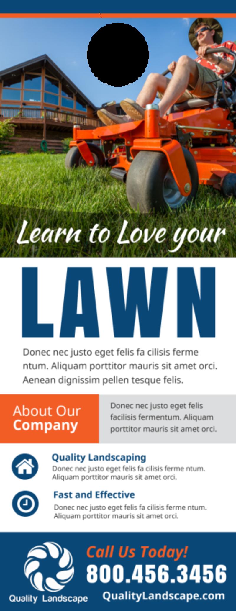 Lawn Door Hanger Template Preview 2
