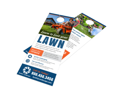 Lawn Door Hanger Template preview
