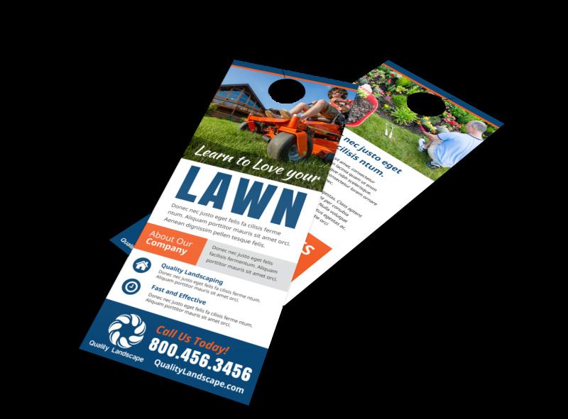 Lawn Door Hanger Template Preview 1