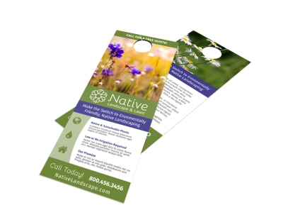 Natural Landscaping Door Hanger Template preview