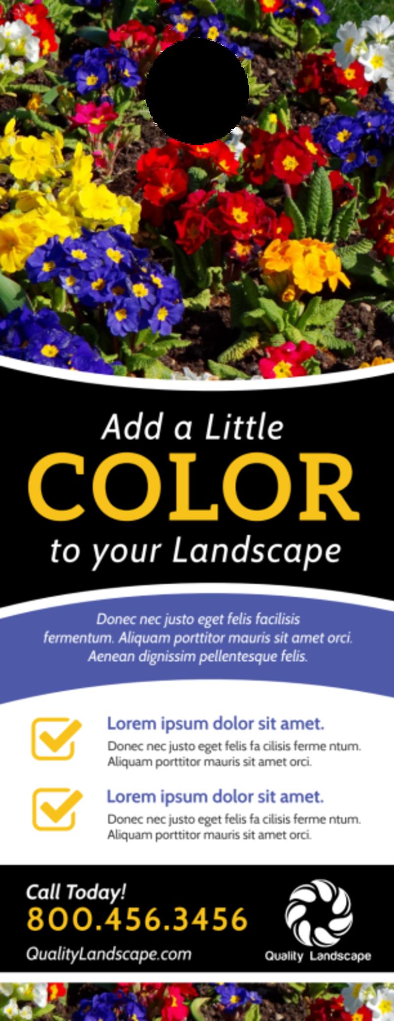 Colorful Landscaping Door Hanger Template Preview 2