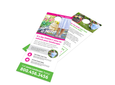 Spring Landscaping Door Hanger Template preview