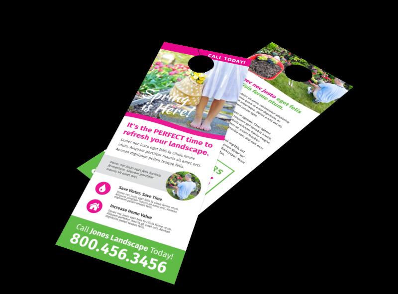 Spring Landscaping Door Hanger Template Preview 1