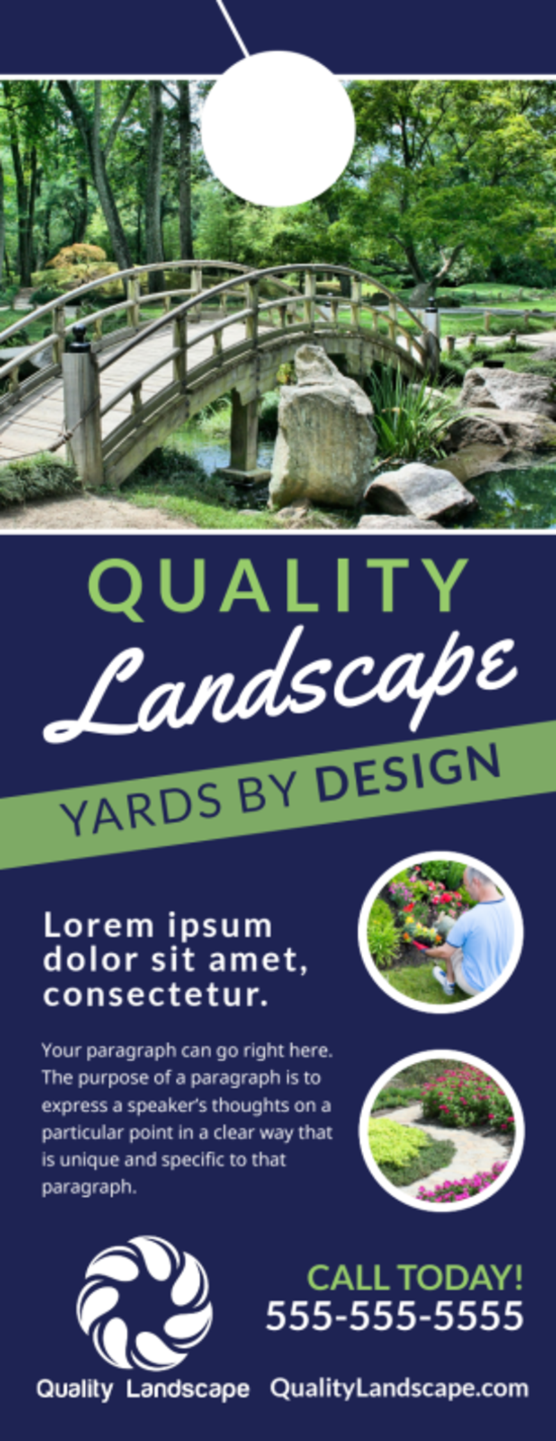 Quality Landscaping Door Hanger Template Preview 2
