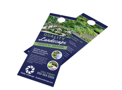 Quality Landscaping Door Hanger Template preview