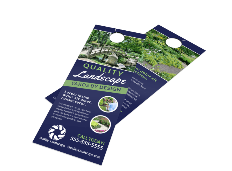 Quality Landscaping Door Hanger Template Preview 1