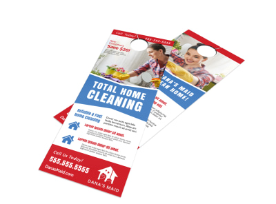 Total Clean Door Hanger Template preview