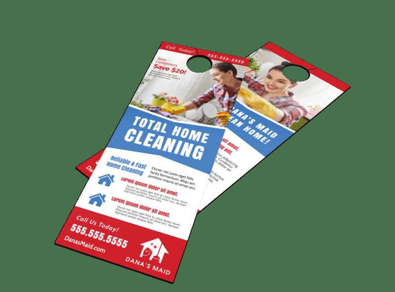 Total Clean Door Hanger Template Preview 1